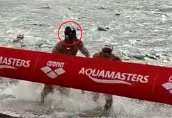 Yüzme yarışında çok konuşulan hareket