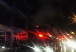 Gece yarısı korkutan yangın