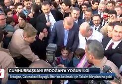 Cumhurbaşkanı Erdoğana yoğun ilgi