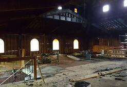 ABDde kundaklanan camide hasar büyük