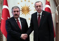 Cumhurbaşkanı Erdoğan, BBP Genel Başkanı Desticiyi kabul etti