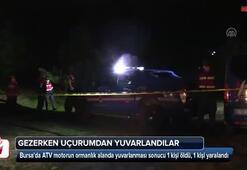 ATV motor yamaçtan yuvarlandı: 1 ölü, 1 yaralı