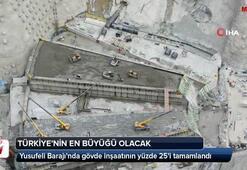 Yusufeli Barajında gövde inşaatının yüzde 25i tamamlandı