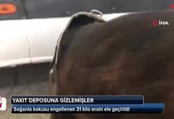 Soğanla kokusu engellenen 31 kilo eroin ele geçirildi
