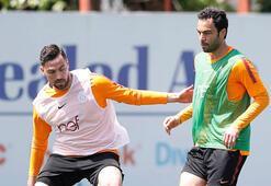 Galatasaray'da Sinan Gümüş antrenmanı tamamlayamadı