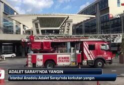 İstanbul Anadolu Adalet Sarayında korkutan yangın