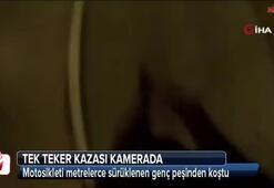 Dolmabahçe Tüneli'nde tek teker kazası kamerada