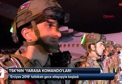 Erciyes 2019 tatbikatı gece atlayışıyla başladı