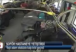 Yaşlı adam otobüste kalp krizi geçirdi