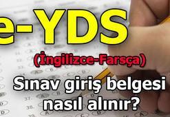 e-YDS sınav giriş belgesi sorgulama ekranı (2019 e-YDS İngilizce-Farsça sınav tarihleri)
