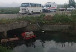 Öğrenci servisi ile traktör çarpıştı Yaralılar var