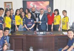 Spor ve sporcu dostu Kaymakam Tunça ziyareti