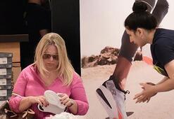 Tamara Mansimova spor ayakkabı denedi