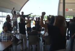 Fenerbahçeli taraftarlar Silivri'de