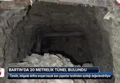 Bartında 20 metrelik define tüneli bulundu