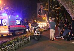 Beşiktaşta motosiklet kazası: 2 yaralı