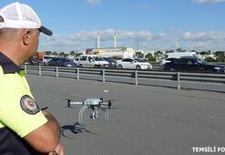 Bayram tatili trafiğine drone önlemi