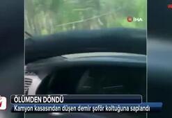 Rus sürücü ölümden kıl payı kurtuldu