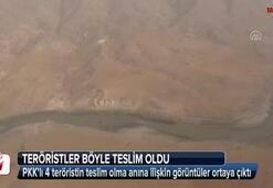 Batmanda 4 PKKlı teröristin teslim oluşu kamerada