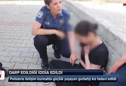 Darp edildiği ileri sürülen gurbetçi polise zor anlar yaşattı