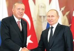 Erdoğan Putin'le  İdlib'i görüştü