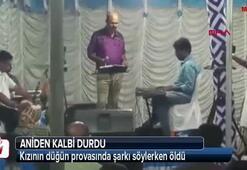 Kızının düğün provasında şarkı söylerken öldü