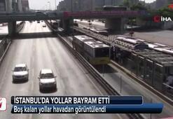 İstanbul'da yollar bayram etti