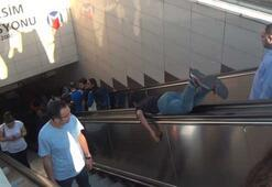 Yer:  İstanbul... Metro istasyonunda şaşırtan görüntü