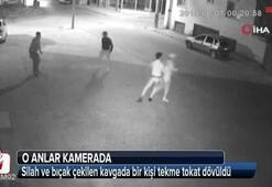 Karaman'da tekme tokat dayak güvenlik kamerasında