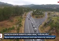 Antalya-Konya karayolunda araç yoğunluğu