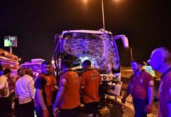 Adanada zincirleme kaza Can pazarı yaşandı...