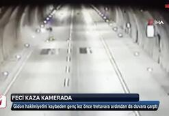 İstanbul'da motosikletli genç kızın feci ölümü kamerada