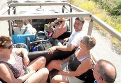 Marmariste turistler cip safariyle eğleniyor