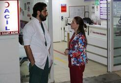 Hastane kapısında hemşireye büyük şok