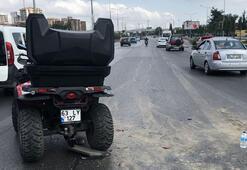 ATV ile arkadan çarptı, yaralandı ama... O bunu yaptı