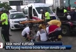 D-100'de ATV kazası: 2 Yaralı