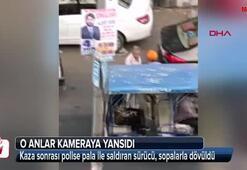 Kaza sonrası polise pala ile saldıran sürücü, sopalarla dövüldü