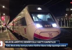 Bilecik-Arifiye demiryolu hattı kapatıldı