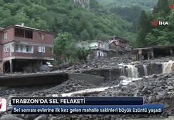 Sel sonrası evlerine ilk kez gelen mahalle sakinleri büyük üzüntü yaşadı