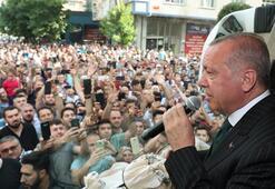 Cumhurbaşkanı Erdoğan, Bahçelievlerde vatandaşlara hitap etti