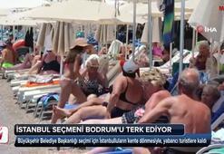 İstanbullu tatilciler Bodrumda sahilleri boşalttı