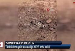 Teröristlerin yola tuzakladığı 2 EYP imha edildi