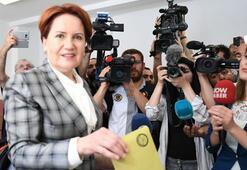 İYİ Parti Genel Başkanı Akşener oyunu kullandı