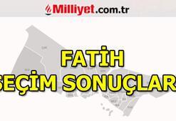 23 Haziran Fatih seçim sonuçları ve oy oranları (İstanbul Yerel Seçimleri)