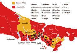 İstanbul'da haritanın rengi değişti