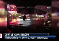 """İstanbul'da """"drift"""" ve """"makas"""" terörü kamerada"""