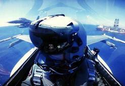Türk F-16'ları Yavuzu selamladı