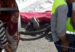 Hafriyat kamyonu 12 yaşındaki çocuğa çarptı