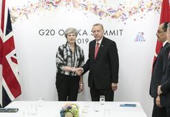 Cumhurbaşkanı Erdoğan, Theresa May ile görüştü