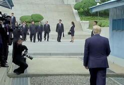 Trump ile Kim silahsızlandırılmış bölgede görüştü